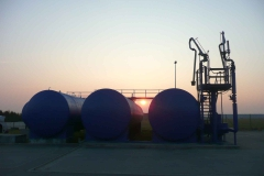 Sonnenuntergang Tanklager